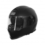Motociklo Šalmas Origine GT juodas matinis su integruotais akiniais nuo saulės