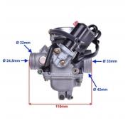 Karbiuratorius 4T, 125cc.