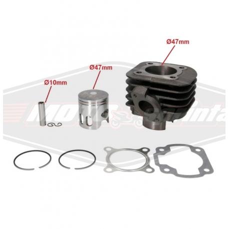 Motorolerio variklio grupė cilindras stūmoklis 2T, 70cc, 47mm. Minarelli.