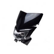 Motociklo priekinis žibintas lempa su aptaku mx enduro