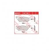 Stabdžių trinkelės TRW, MCB671